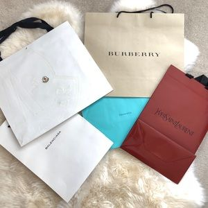 Luxury brand shopping bags bundle